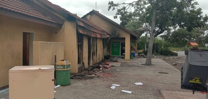 building destroyed by fire PMC in Phalaborwa